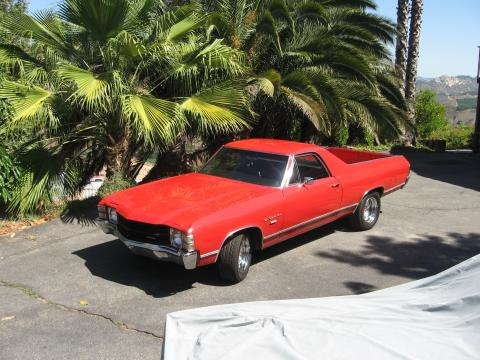 1971 Chevrolet El Camino Custom in Corvette Red