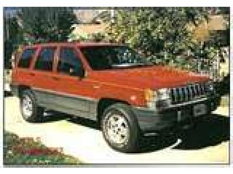 1994 Jeep Grand Cherokee Laredo in Flame Red