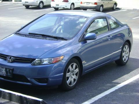 2008 Honda Civic LX Coupe in Atomic Blue Metallic