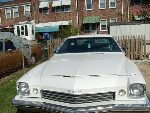 1973 Buick Century Coupe in White Green Apple Pearl