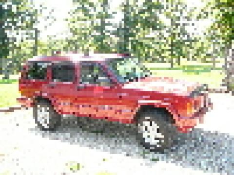 1998 Jeep Cherokee Classic in Bright Red