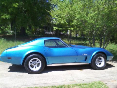 1976 Chevrolet Corvette Stingray Coupe in Bright Blue Metallic