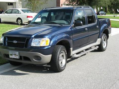 2003 Ford Explorer Sport Trac XLS in Medium Wedgewood Blue Metallic