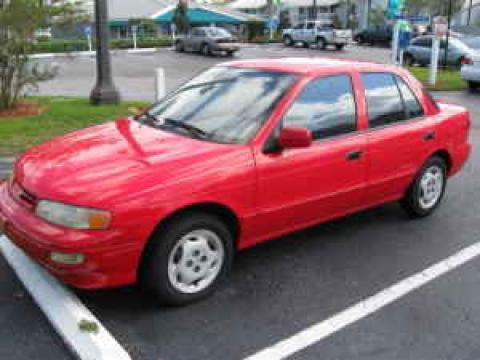 1997 Kia Sephia Sedan in Red