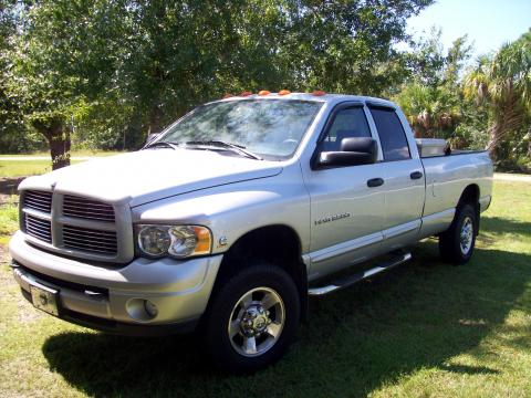 2005 Dodge Ram 2500 SLT Quad Cab 4x4 in Bright Silver Metallic