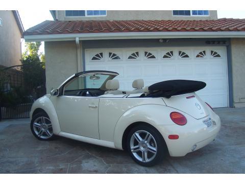 2004 Volkswagen New Beetle GLS 1.8T Convertible in Harvest Moon Beige