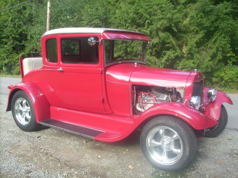 1929 Ford Model A Special Coupe Hot Rod in Red