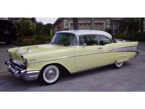 1957 Chevrolet Bel Air Sport Coupe in Colonial Cream/India Ivory