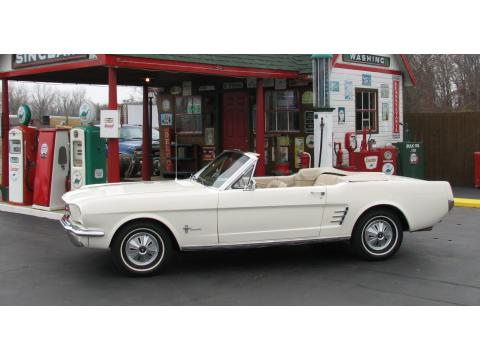 1966 Ford Mustang Convertible in Wimbledon White