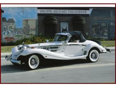 1936 Mercedes-Benz 500K Special Roadster Factory Reproduction in Pearl White