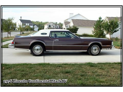 1976 Lincoln Continental Mark IV in Dark Brown