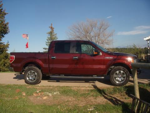 2009 Ford F150 XLT SuperCrew 4x4 in Royal Red Metallic