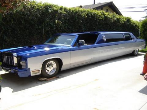 1976 Lincoln Continental Limousine in Candy Blue/Silver