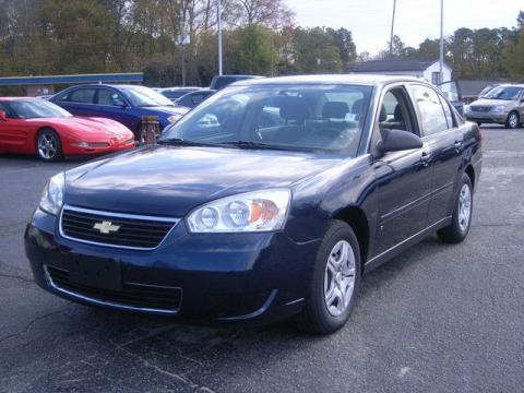 2007 Chevrolet Malibu LT Sedan in Dark Blue Metallic