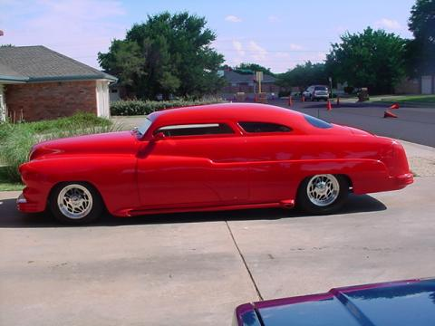 1951 Mercury Lead Sled 2 Door Sedan in Porsche Red