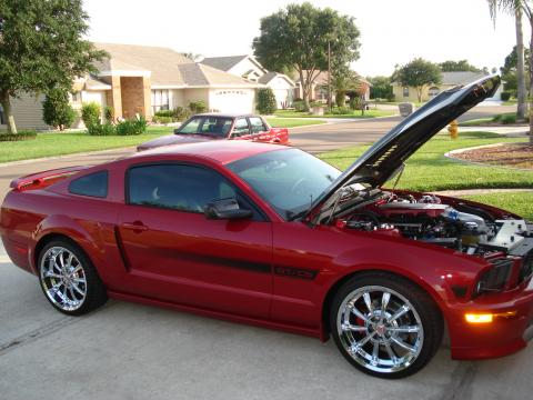 2008 Ford Mustang GT/CS California Special Coupe in Dark Candy Apple Red