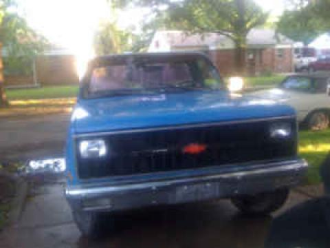 1982 Chevrolet C/K C20 in Electric Blue
