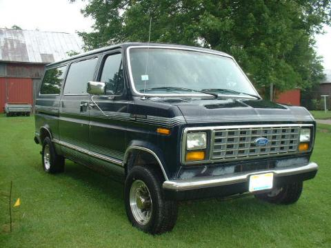 1989 Ford E Series Van Club Wagon Passenger in Dark Shadow Blue