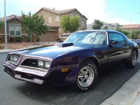 1977 Pontiac Firebird Trans Am Coupe in Pearl Metallic Deep Purple