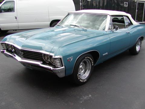 1967 Chevrolet Impala SS 427 Convertible in Nantucket Blue Metallic