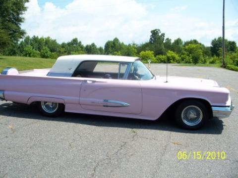 1959 Ford Thunderbird 2 Door Coupe in Flamingo Pink/White