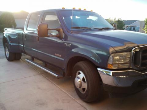 2004 Ford F350 Super Duty XLT Crew Cab Dually in Medium Wedgewood Blue Metallic