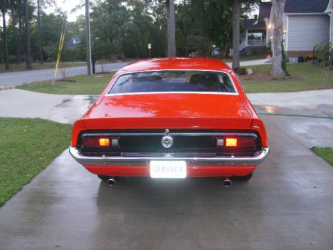 Red 1972 Ford Maverick Grabber with Black interior 1972 Ford Maverick