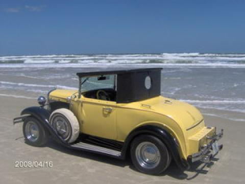 1931 Ford Model A Rumble Seat Roadster in Yellow/Black