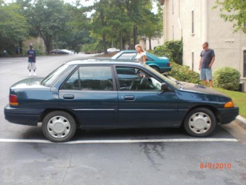 1995 Ford Escort LX Sedan in Midnight Teal Pearl Metallic