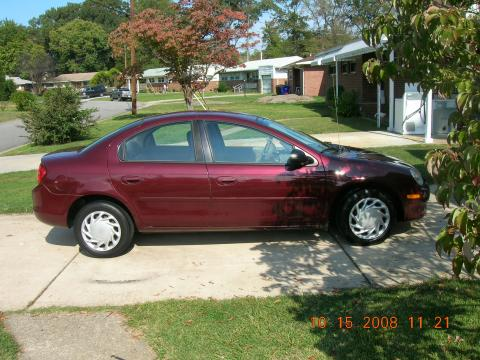2002 Dodge Neon SE in Dark Garnet Red Pearl