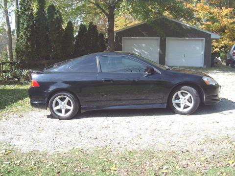 2002 Acura RSX Type S Sports Coupe in Nighthawk Black Pearl