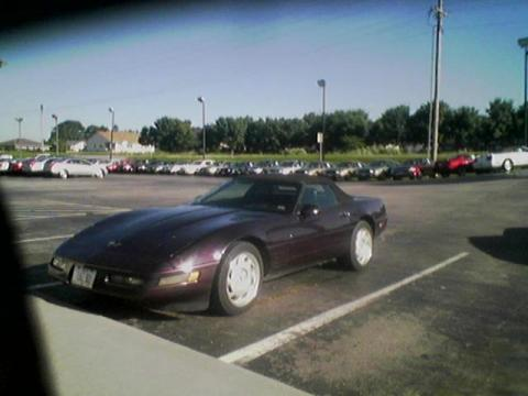 1992 Chevrolet Corvette Convertible in Black Rose Metallic