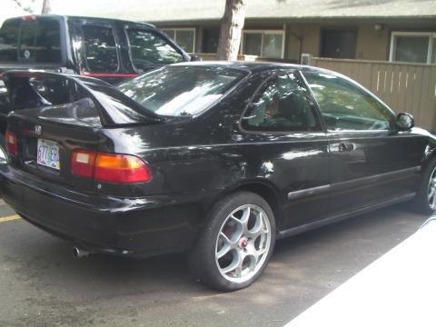 1995 Honda Civic EX Coupe in Granada Black Metallic