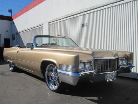 1970 Cadillac DeVille Convertible in Regency Gold Firemist