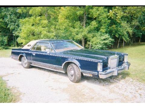 1977 Lincoln Mark V Bill Blass Edition in Midnight Blue Metallic