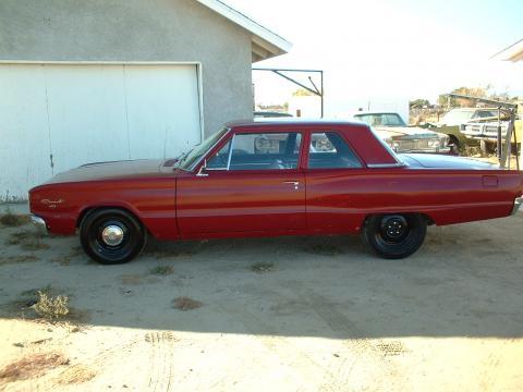 1966 Dodge Coronet 2 Door Post Sedan in Red