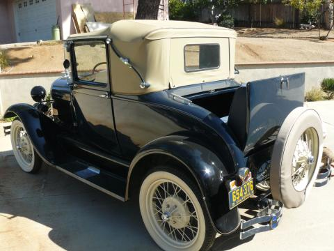 1928 Ford Model A Rumble Seat Roadster in Dark Blue