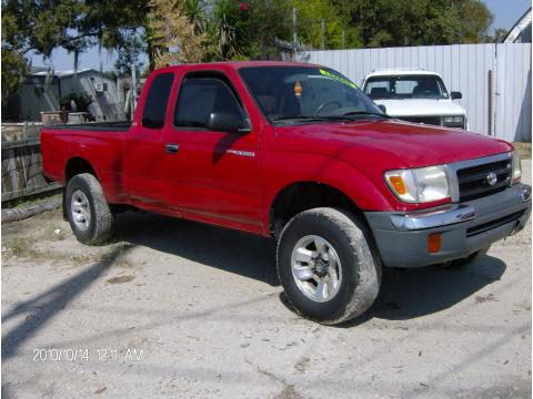 1999 Toyota Tacoma SR5 Extended Cab 4x4 in Sunfire Red Pearl
