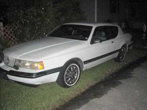 1988 Mercury Cougar LX in White