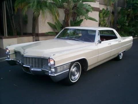 Beige 1965 Cadillac DeVille Hardtop Sedan with Burgundy interior 1965