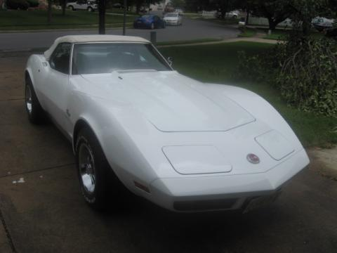 Corvette Stingray  on This 1974 Chevrolet Corvette Stingray Convertible In Classic White