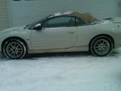 2001 Mitsubishi Eclipse Spyder GT in Dover White Pearl