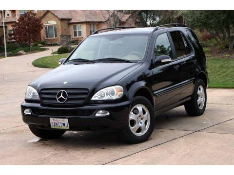 2002 Mercedes-Benz ML 320 4Matic in Black