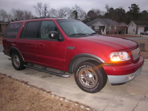 2002 Ford Expedition XLT in Laser Red