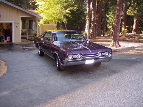 1967 Oldsmobile Cutlass Holiday Coupe in Deep Plum Pearl (PT Cruiser Color)