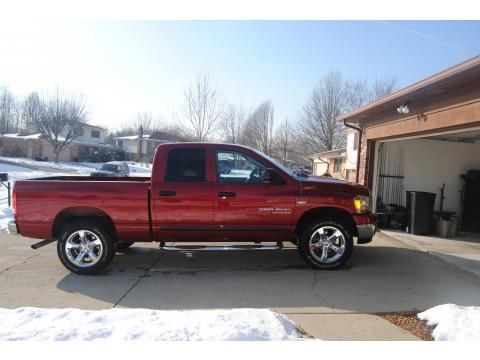 2006 Dodge Ram 1500 Big Horn Edition Quad Cab 4x4 in Inferno Red Crystal Pearl