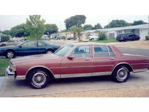 1987 Chevrolet Caprice Classic 4 Door in Burgundy