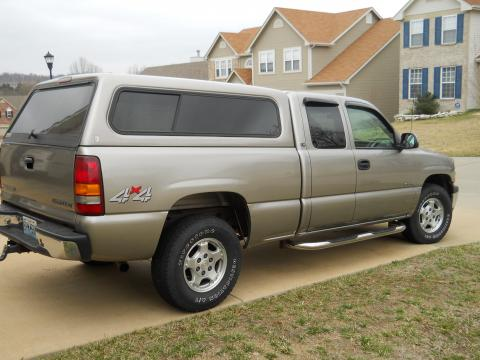 2001 Chevrolet Silverado 1500 LS Extended Cab 4x4 in Light Pewter Metallic