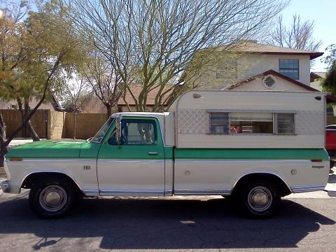 1973 Ford F100 Ranger in 2 Tone Green