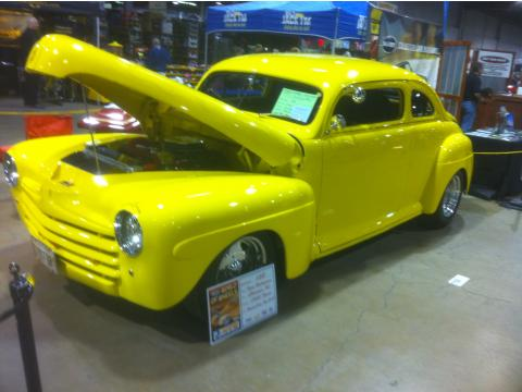 1948 Ford Tudor 2 Door Chopped Coupe in Yellow